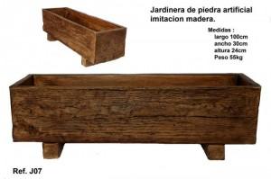 Jardinera imitacion madera