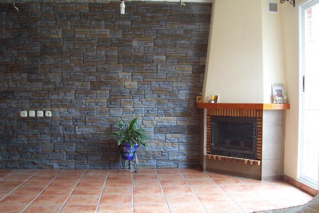 Imitacion con piedra decoracion en piedra for Plaqueta imitacion piedra para exterior