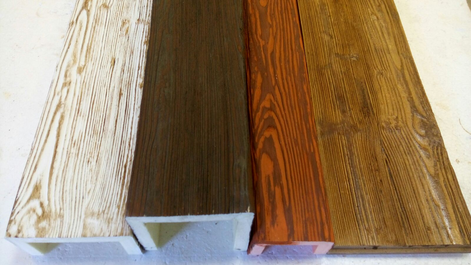 Vigas de poliuretano huecas materiales de construcci n - Vigas falsas de madera ...